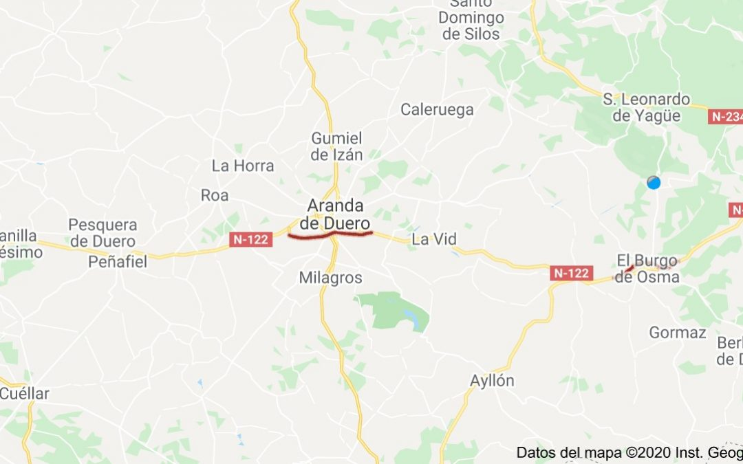 Análisis de situación de la A11, Soria – Valladolid a 06/05/2020